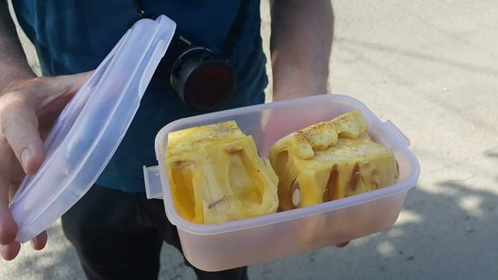 Zero waste travel: Packing fruit in your own reusable container cannot be any fresher. Courtesy: Sofie Hostyn of Bali's Zero Waste community group on Facebook.