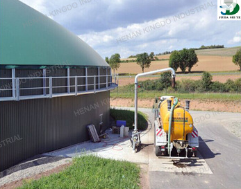 A Chinese-made biogas plant that uses water hyacinth as fuel. Courtesy Alibaba.