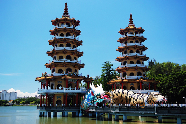 Kaohsiung's attractions include the Lotus Lake. Courtesy Taiwan.net.tw