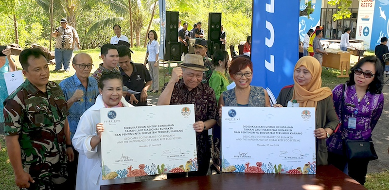 A launch event with all stakeholders means everyone has a role to play in marine conservation, says Suzy Hutomo (third from right).