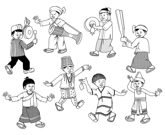 Invited guest Sai Parn Hein illustrates the spirit of Burmese culture that can be appreciated at the Asian Festival of Children's Content 2019