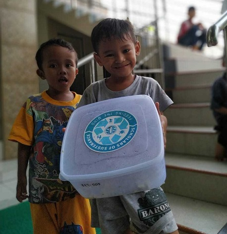 Orphanages, schools and villages all benefit from the SOS food. Courtesy SOS.
