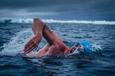 Lewis Pugh plans to swim the supraglacial lakes of the Antarctica in 2020 to lobby for greater protection there.