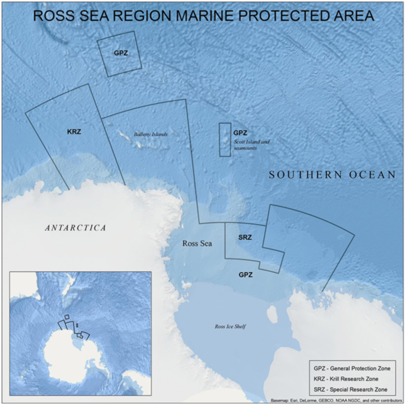 Although the Ross Sea has come under marine protection, some areas are still open to commercial fishing and fishing for krill research. Antarctica 2020 calls for bigger areas surrounding Antarctica to come under MPAs.