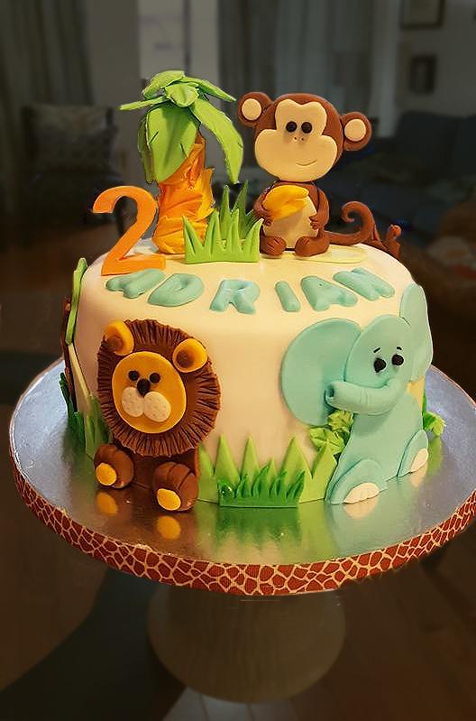 Fios de Mel by Elizabete Costa Cakes and Sweet New York -  1 tier animals cake.jpg