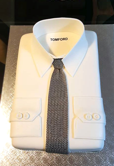 Fios de Mel by Elizabete Costa Cakes and Sweet New York -  1 tier cake tom ford shirt with tie.jpg