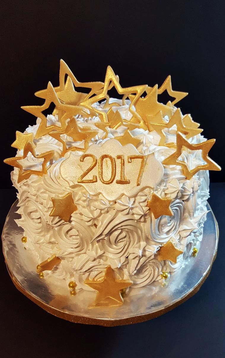 Fios de Mel by Elizabete Costa Cakes and Sweet New York -  1 tier new year star cake.jpg