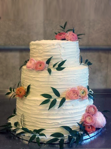 Fios de Mel by Elizabete Costa Cakes and Sweet New York -  3 tier rustic cake with roses and  folliage.jpg