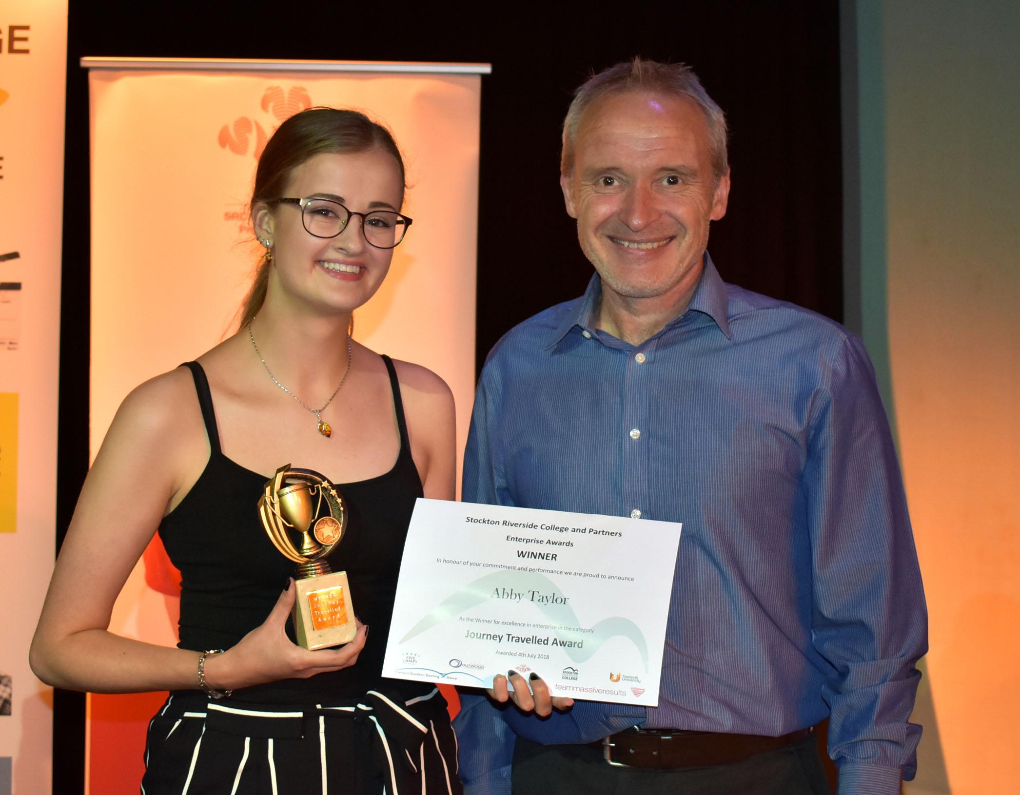 Enterprising Stockton Awards Abby Taylor