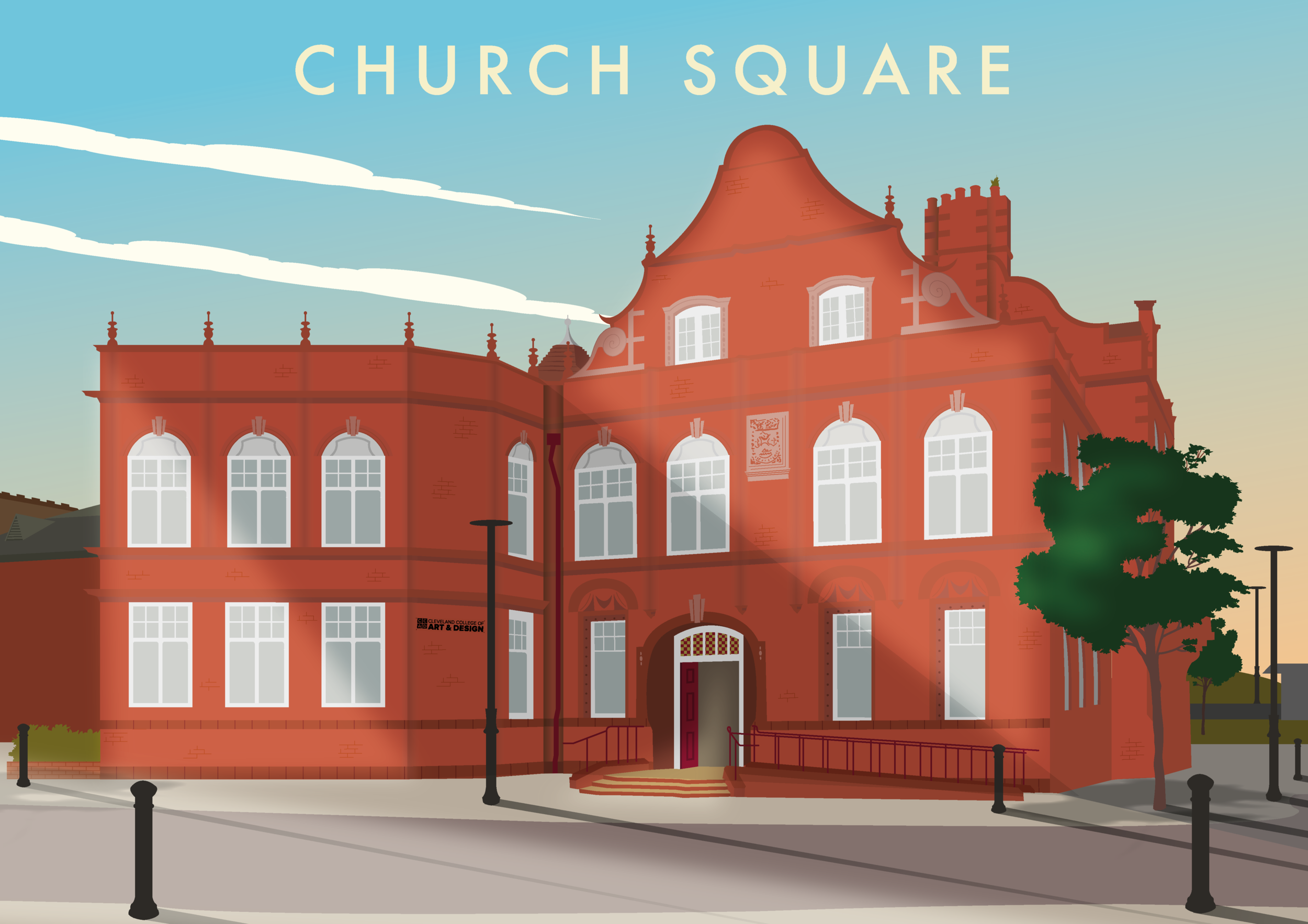 The Northern School of Art - Church Square (Hartlepool) Illustration
