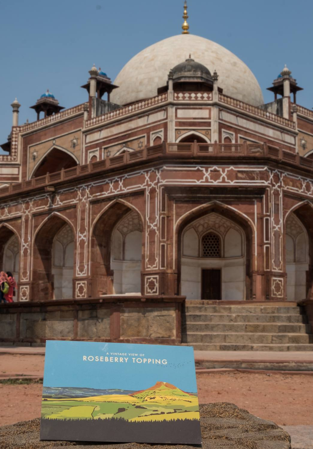 Humayun tomb, Delhi, India -  Vintage Chartered Financial Planners - Artwork by Abby Taylor