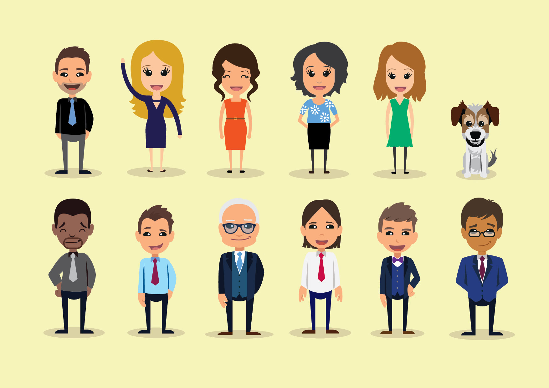 Character Design - Characters can be used in replacement of your 'Meet the Team' page, which makes a fun change to corporate photographs, or they can be used for many marketing purposes.