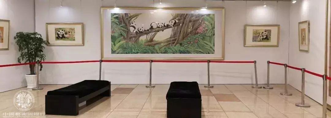 ▲《国宝生肖》——刘中邮品与国画艺术展现场