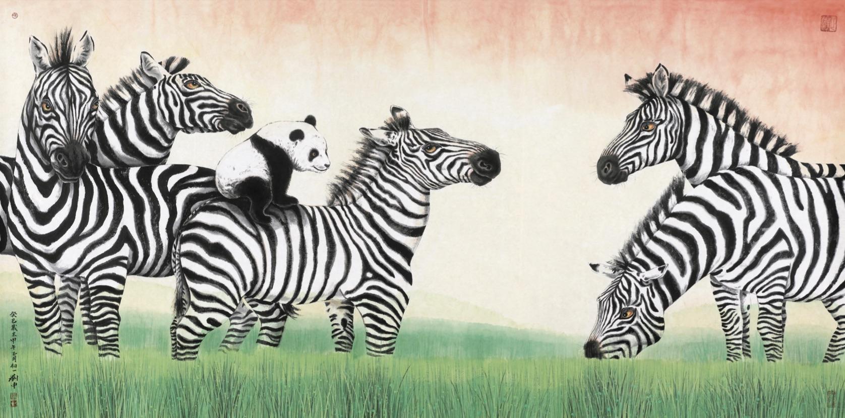 ⻢上雄风 Panda On A Zebra 2014