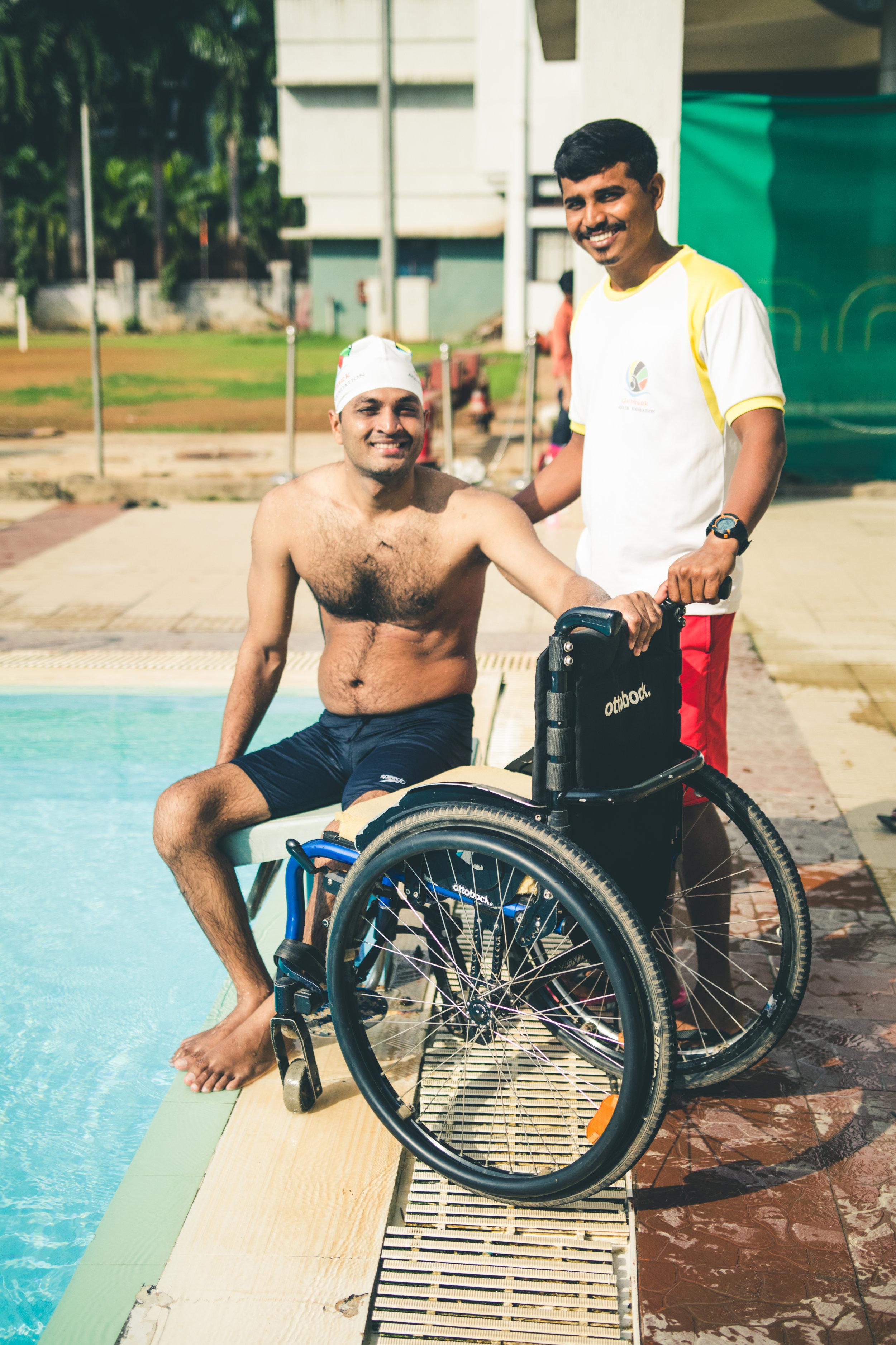 Paraplegic Swimmer
