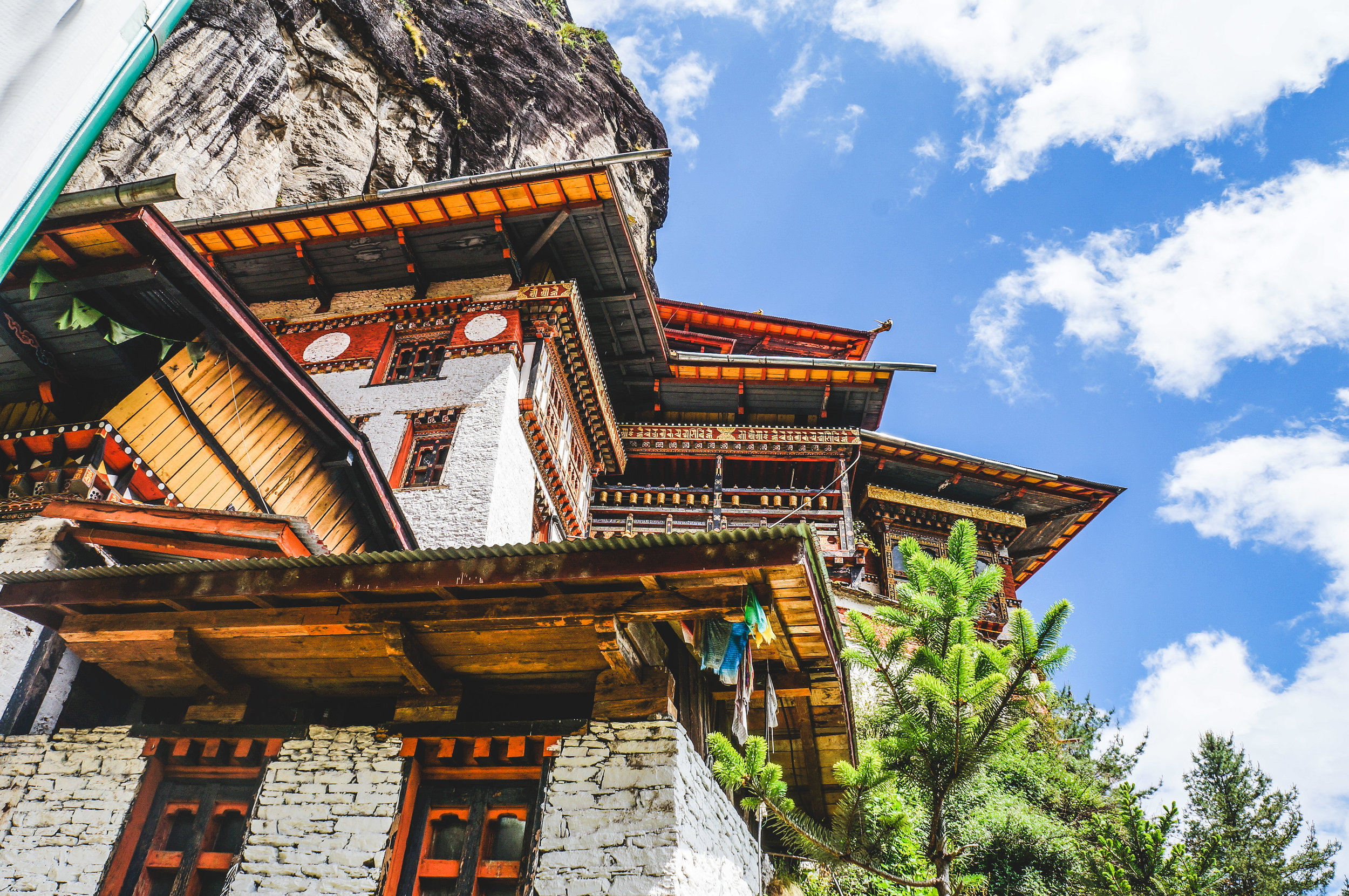 The Tiger's Nest or Paro Taktsang's main structures were rebuilt after a fire all but destroyed the complex 16 years ago. A consortium of international donors restored the site to its former glory in 2005