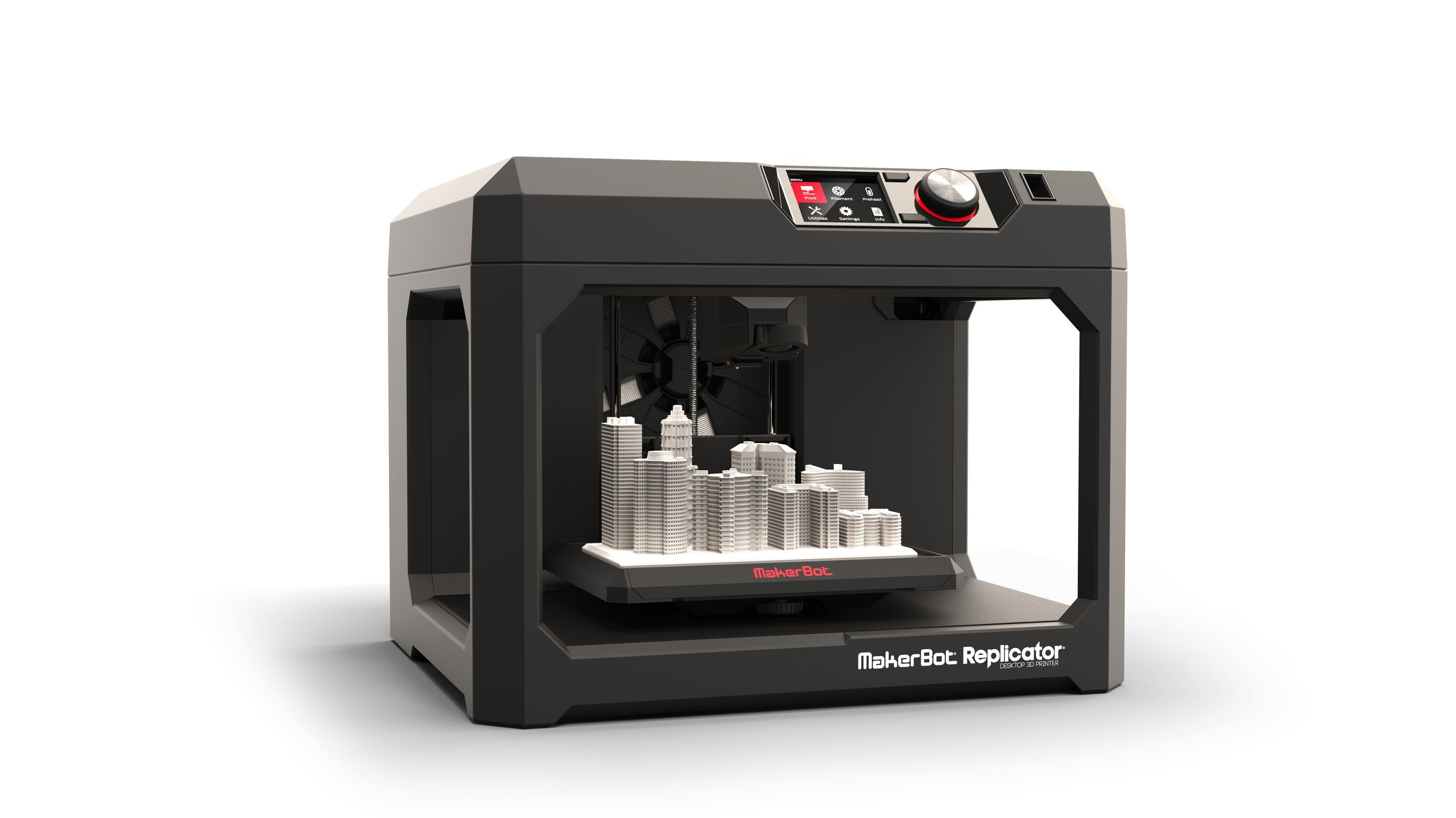 Makerbot Replicator + en Makerbot z18 (FDM printers)