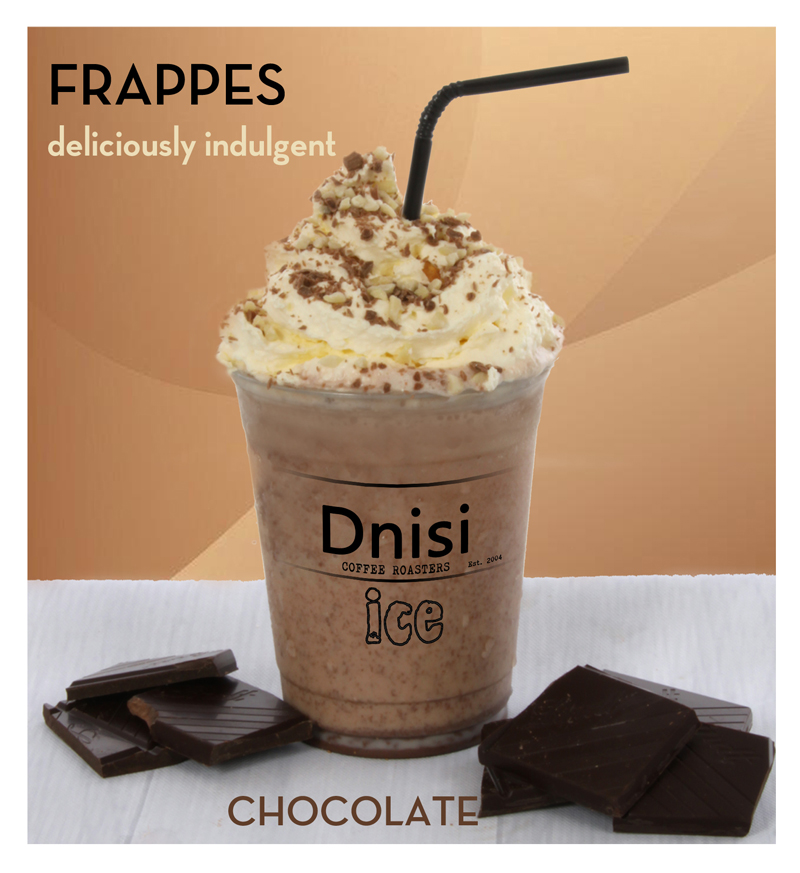 FRAPPES - - Vanilla Latte, Iced Mocha or Double Chocolate