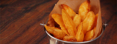POTATO WEDGES - Lightly spiced wedges served asSIDES a small portion of wedges with a dipLOADEDwith cheese plus a dipwith cheese & bacon plus a dip
