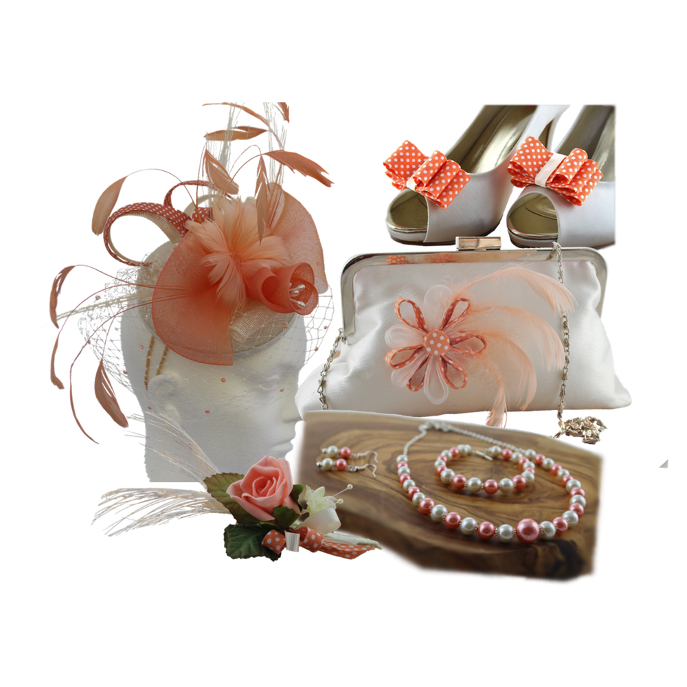 coral and ivory accessories