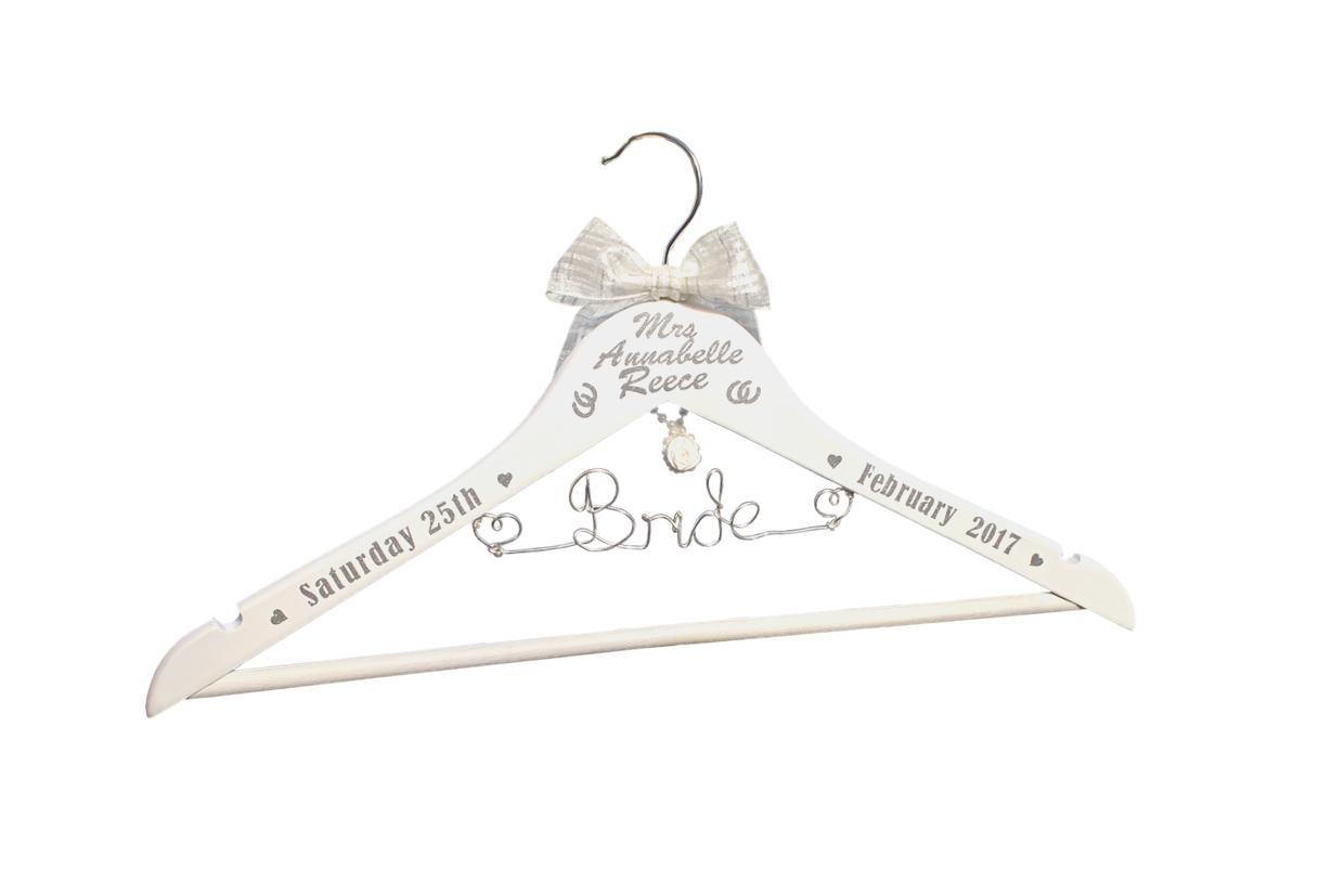 Personalised bridal hanger