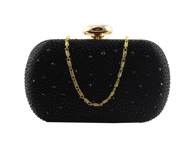 Black sparkle clamshell clutch bag.jpg