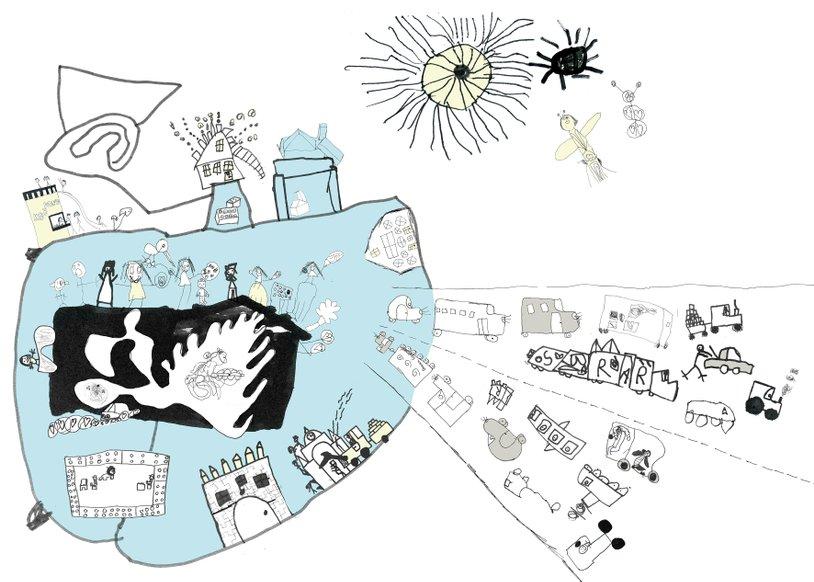 Silkeborg børnebibliotek - facadeudsmykning