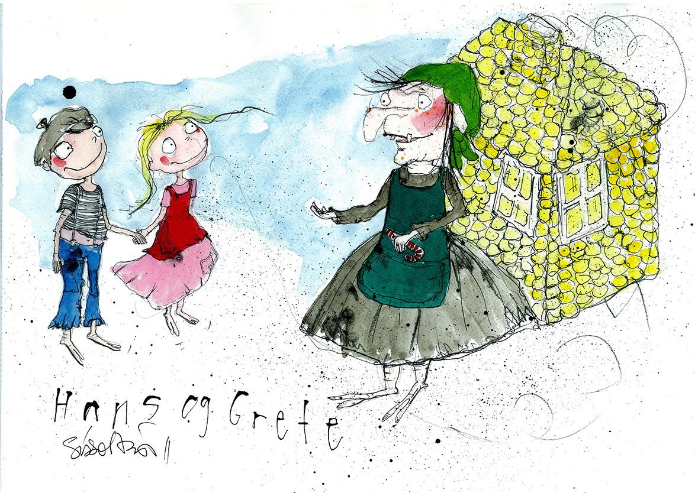 Hans og Grete, tryk til salg, kr. 350