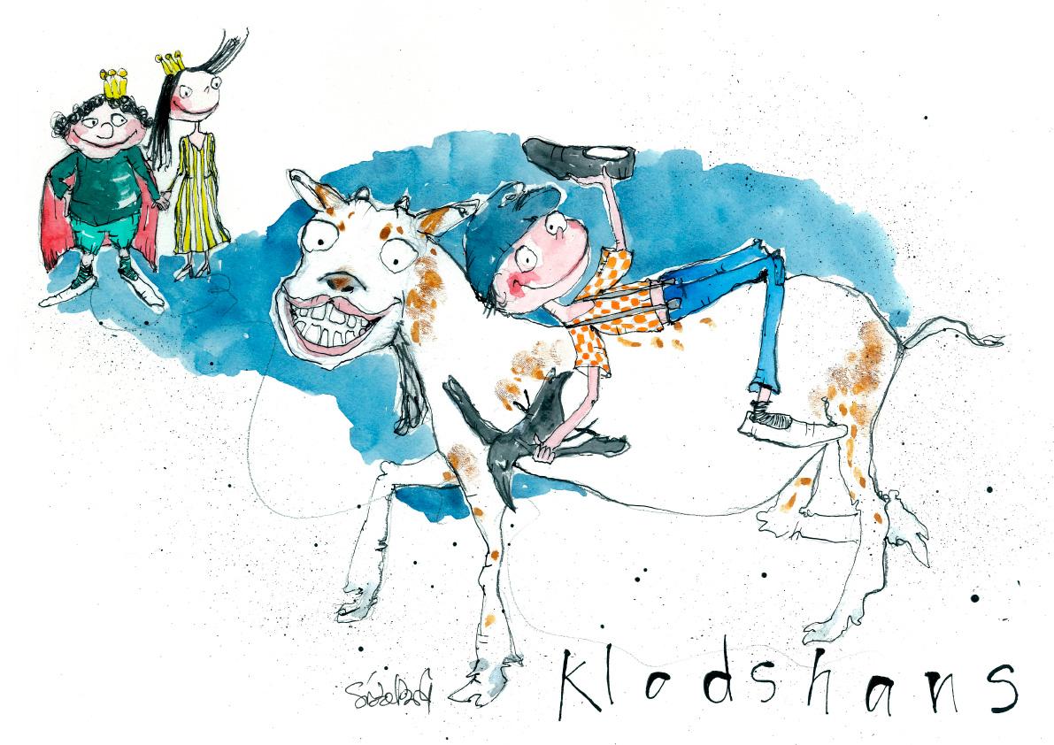 Klodshans, tryk til salg, kr. 350