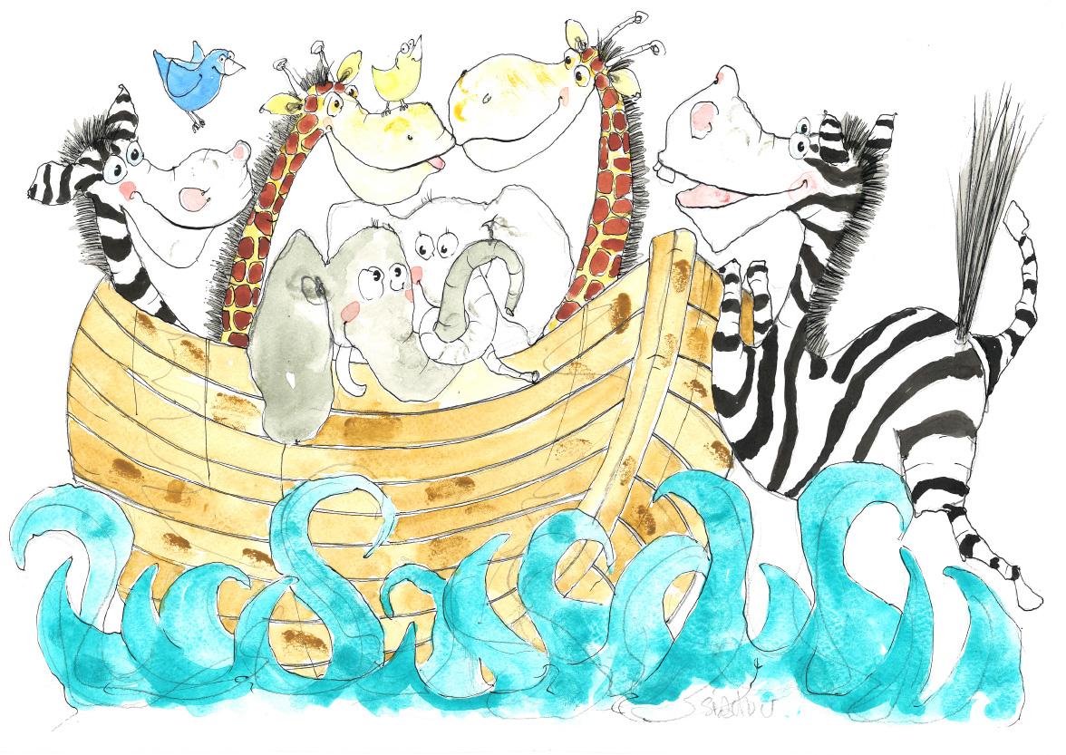 Noahs ark, tryk til salg, kr. 350