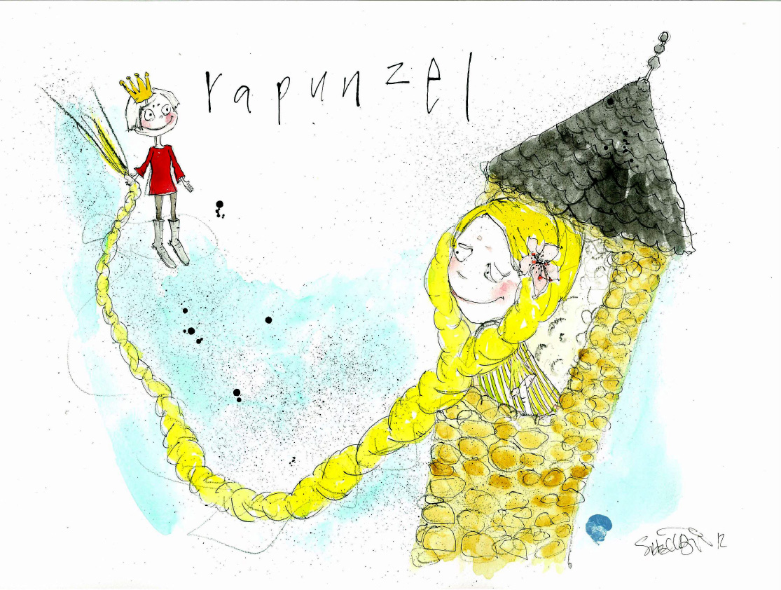 Rapunzel, tryk til salg, kr. 350