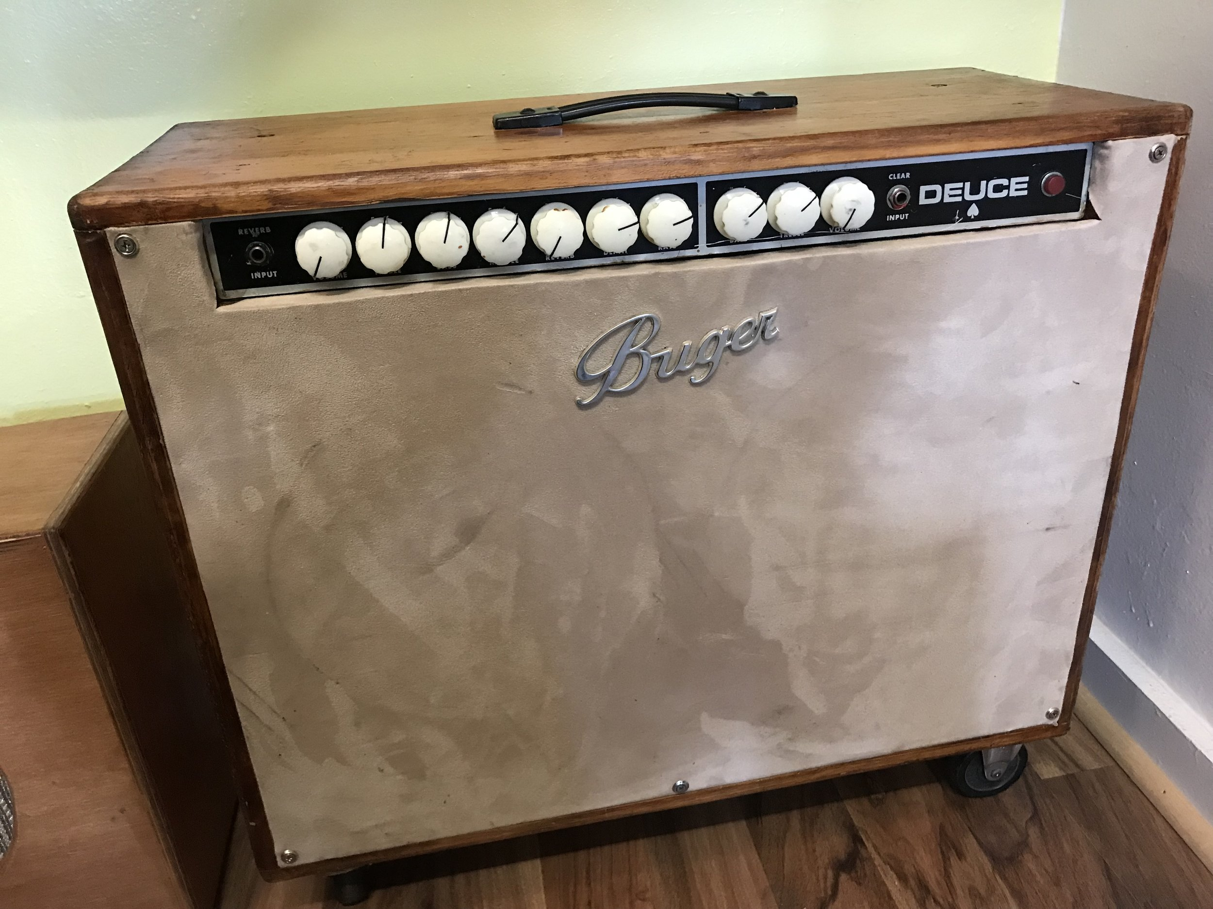 Peavy Deuce Solid State - An amazing amplifier with huge tone!! Rebuilt by Tim Mason from OAK AMPS.2 channels, 1 clean and a great platform for effects the other a reverb powerhouse.Come in and give it a try. You'll love it.$699