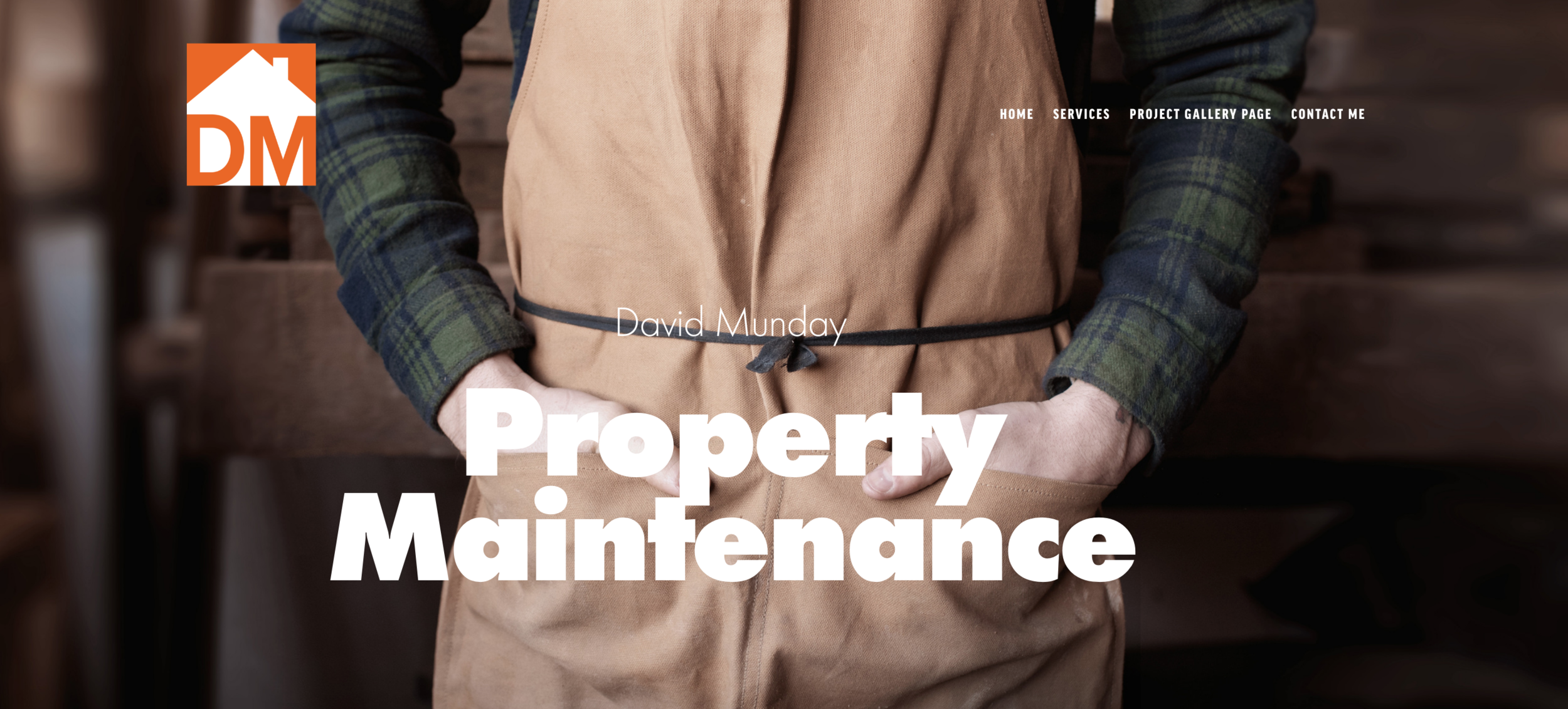 DM Property Maintenance - Local handyman needing a portfolio to showcase his work and services.