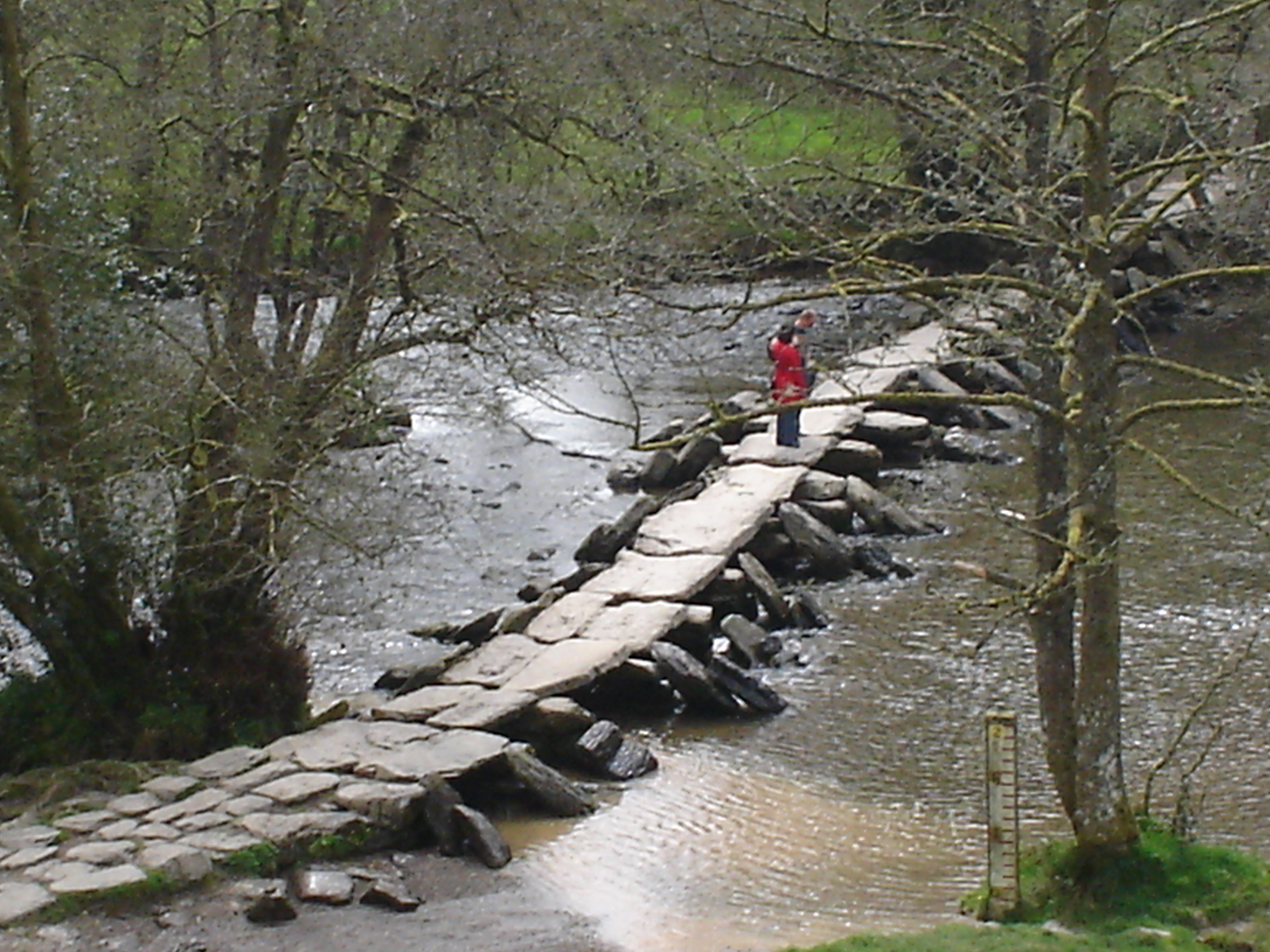The Tarr Steps clinker bridge is one of the oldest in Britain.