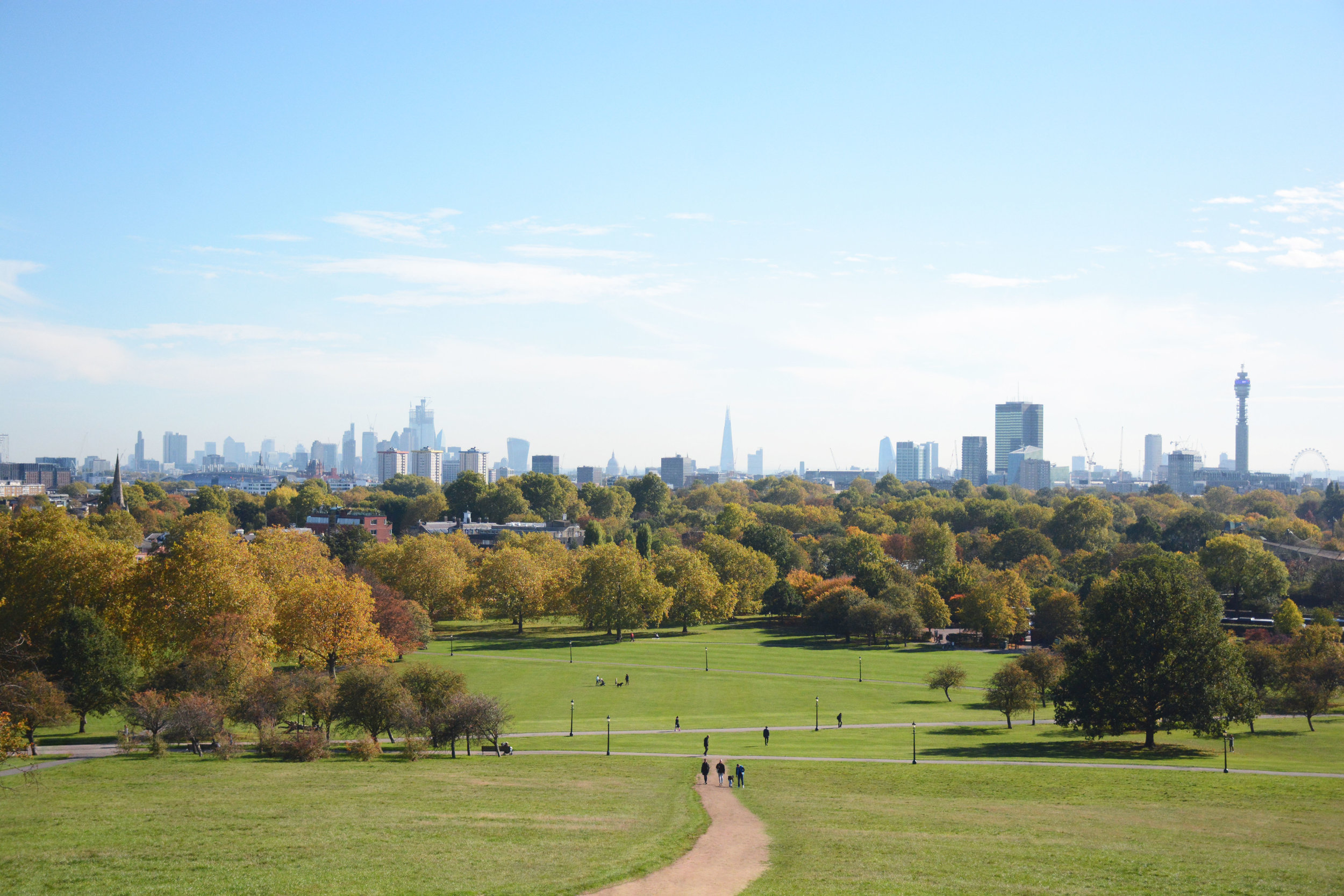 Nature & Skyline views - The experience starts at Regent's Park, what was once King Henry VIII's hunting chase. It is known as the 'jewel in the crown' and is one of London's eight Royal Parks with its beautiful gardens, a lake, the London Zoo, London Central Mosque and much more. From Regent's Park we will go to the beautiful Primrose Hill, from where you will enjoy a breathtaking skyline view over London whilst listening to the many songs that were inspired by this view, from the Beatles, to Blur, to Red Hot Chili Peppers, to John Martin.