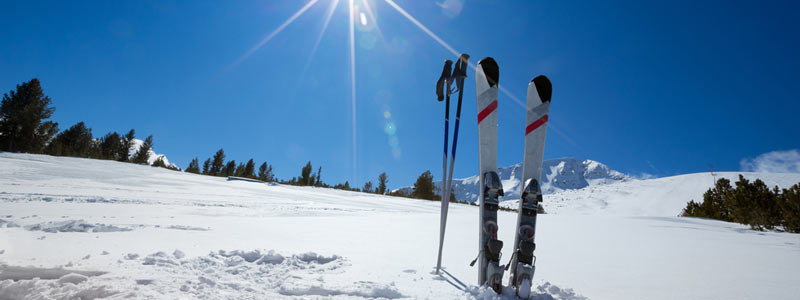 Snow, sun, skis (or a snowboard!) is everything you need for a perfect weekend getaway