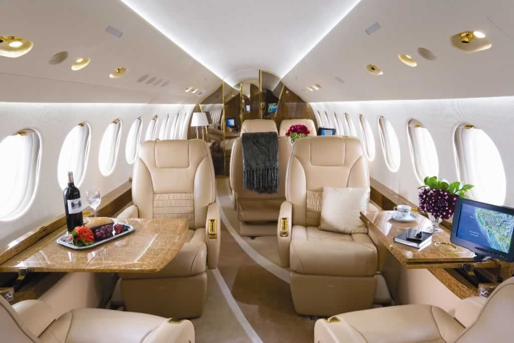 Enjoy your time traveling privately via private jet.