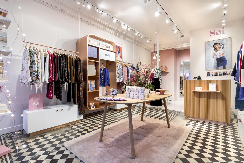 Mobilier sur-mesure pour l'agencement d'espace retail