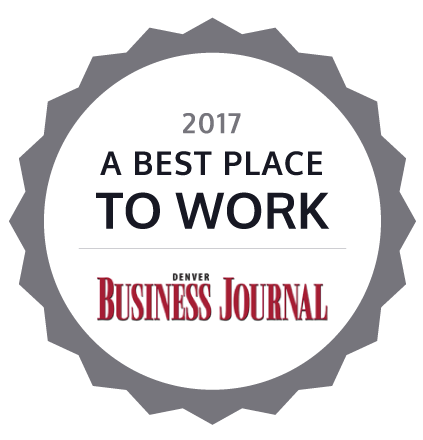 2017 A Best Place to Work by the Denver Business Journal