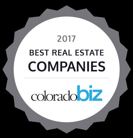 2017 Best Real Estate Company by colorado biz