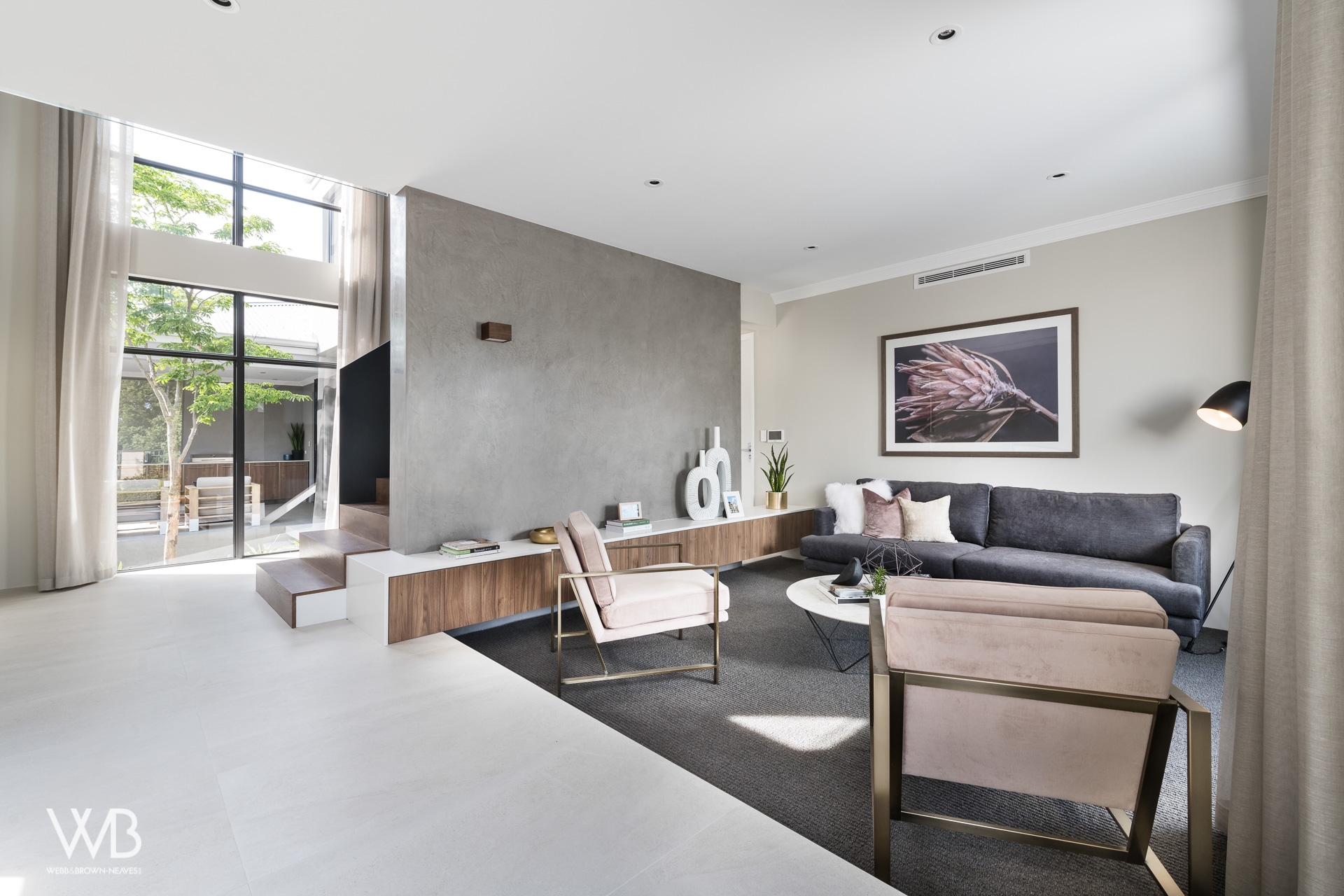 Furniture designed by Jess O'Shea Designs for Webb and Brown-Neaves. Moda Display home. Made by The Maker Designer Kitchens. Dianella, Perth, Western Australia