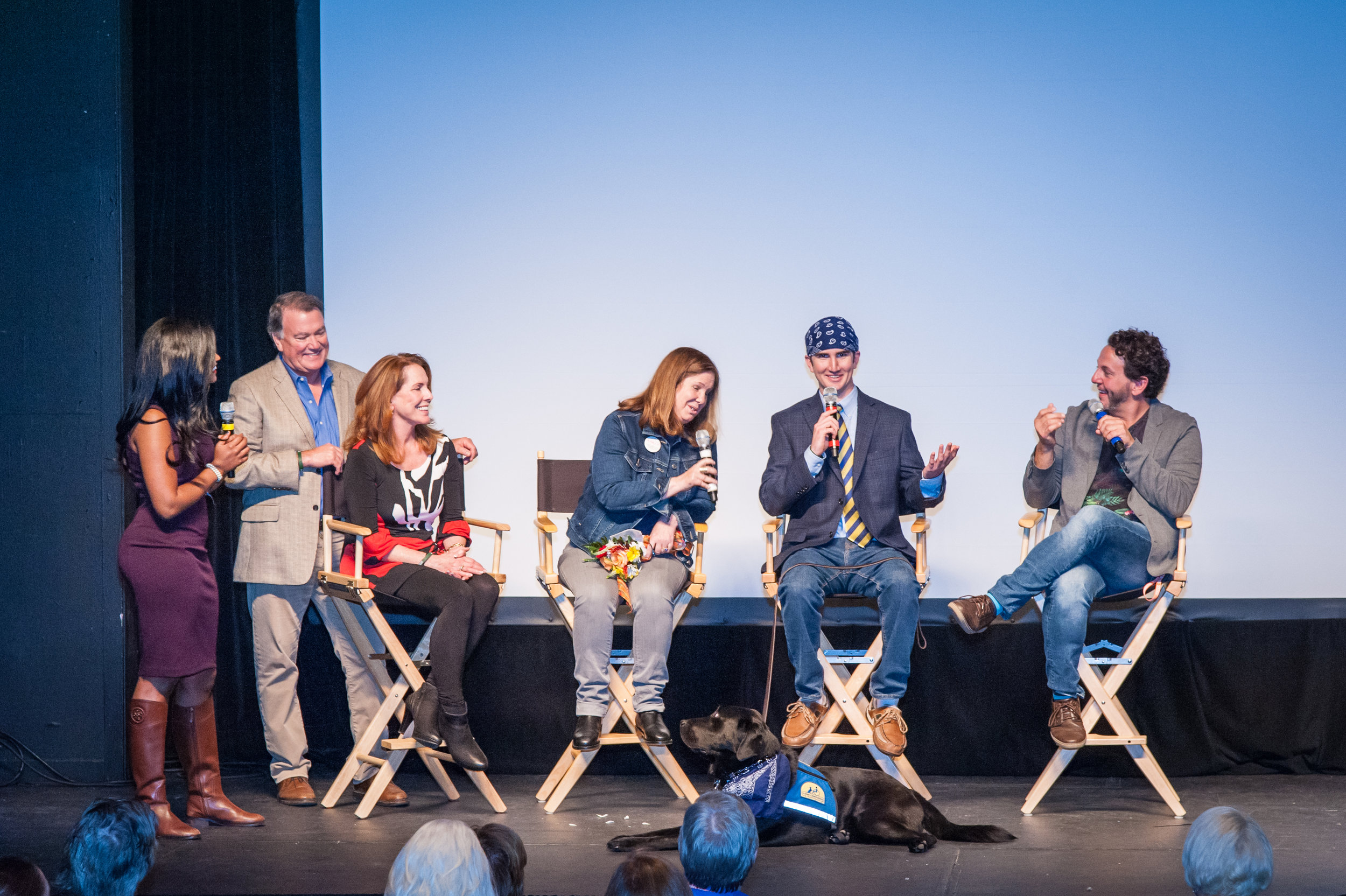 Q & A followed the screening with Forrest Allen, Tom Sweitzer, Director Susan Koch and Forrest's parents Rae Stone and Kent Allen.  And of course, Tolliver!