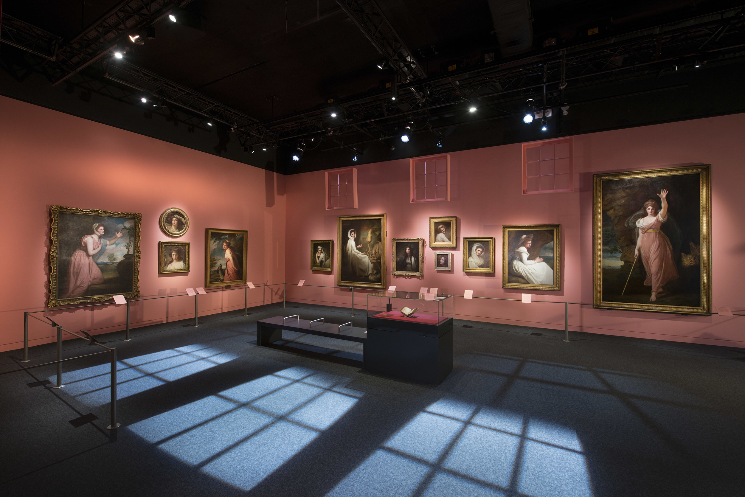 'Muse' conceived as a gallery / artist's Studio featuring the George Romney's paintings of Emma
