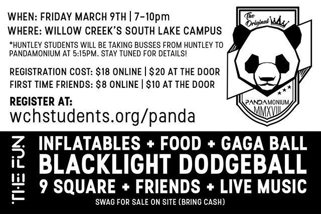 PANDAMONIUM IS NINE DAYS AWAY! Get registered at wchstudents.org/panda (link in bio)