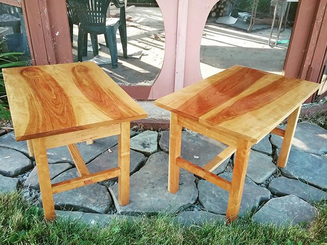 Great looking mortise and tenon cherry tables made by shop member Mary Ann. Family heirlooms are made here! #whatwillyoumake #cortlandwoodworks #experiencecortland
