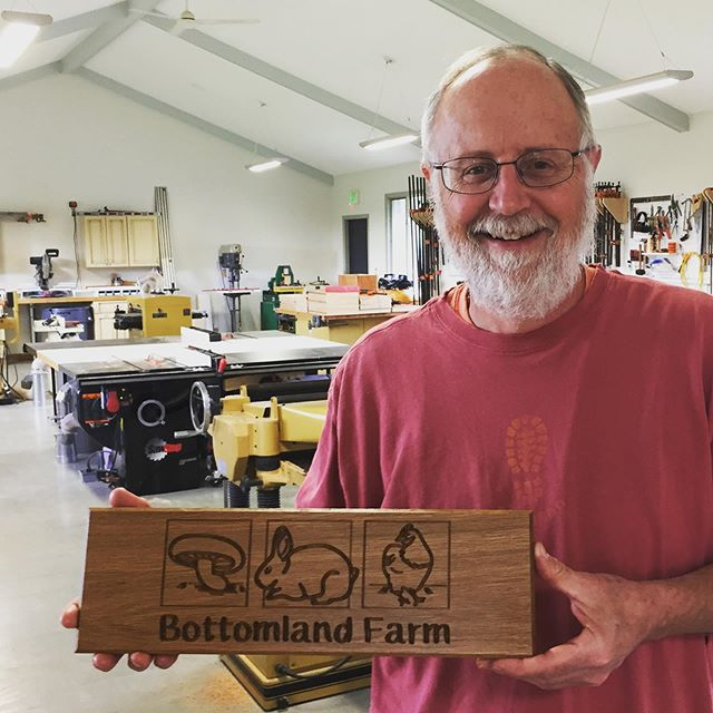 Beautiful sign Fred! Next CNC sign class offered on 11/7. #cortlandwoodworks #bottomlandfarm #cortland