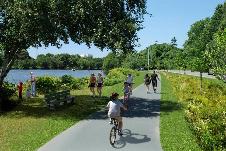 Greenough Boulevard Greenway - Watertown and Cambridge, MARedesign of a roadway including the restoration of an underutilized riverfront park along the Charles River into a multi-functional greenway for the community.Client: Massachusetts Department of Conservation and Recreation (DCR)Project Team: VHB (Designers)Envision Bronze Award, March 2017