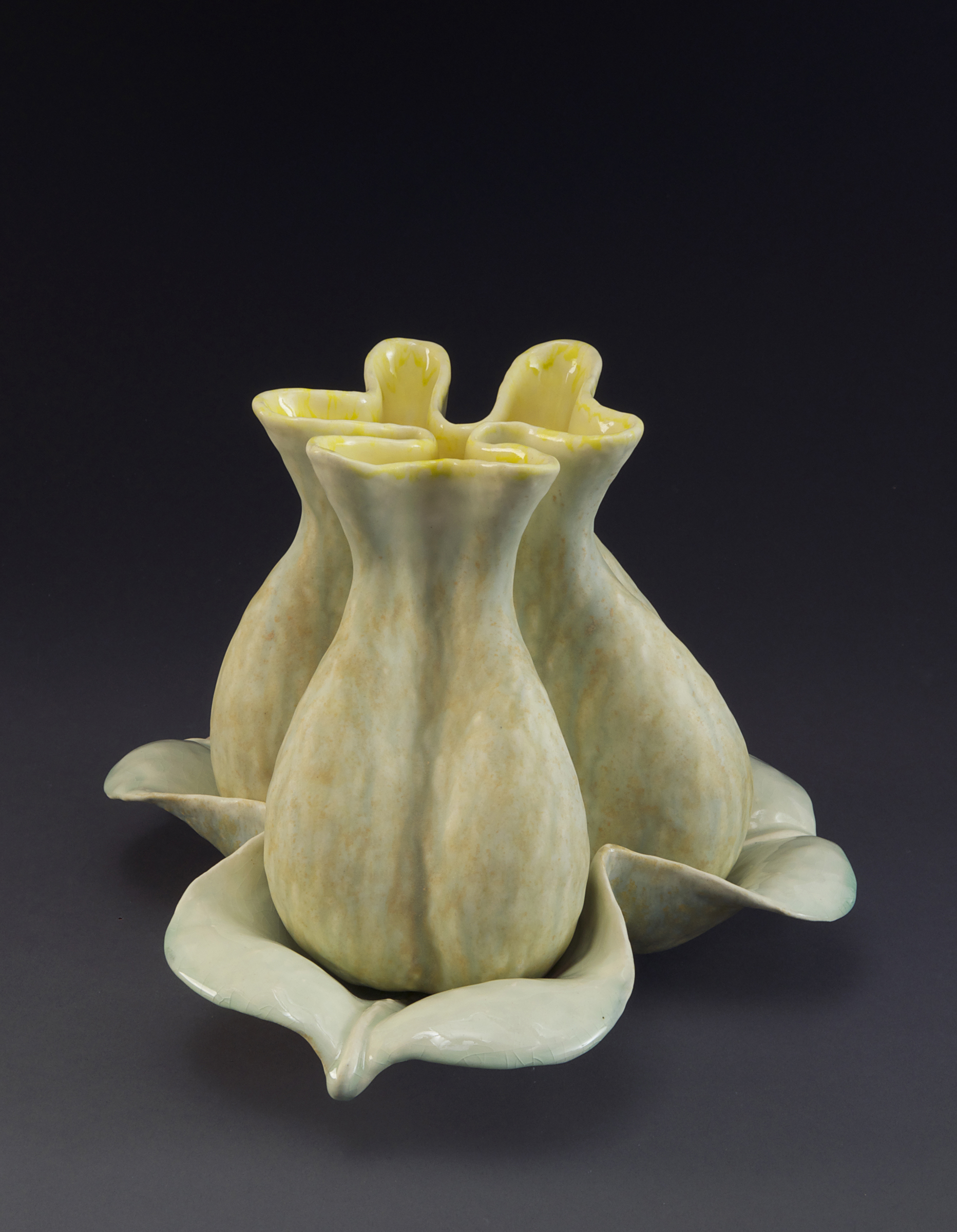 Tri Lobed Yellow and Green Blooming Vessels