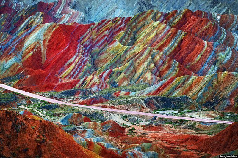 China's Rainbow Mountains. Bucket list time.....(yes, I am hungry for Spring Break already)