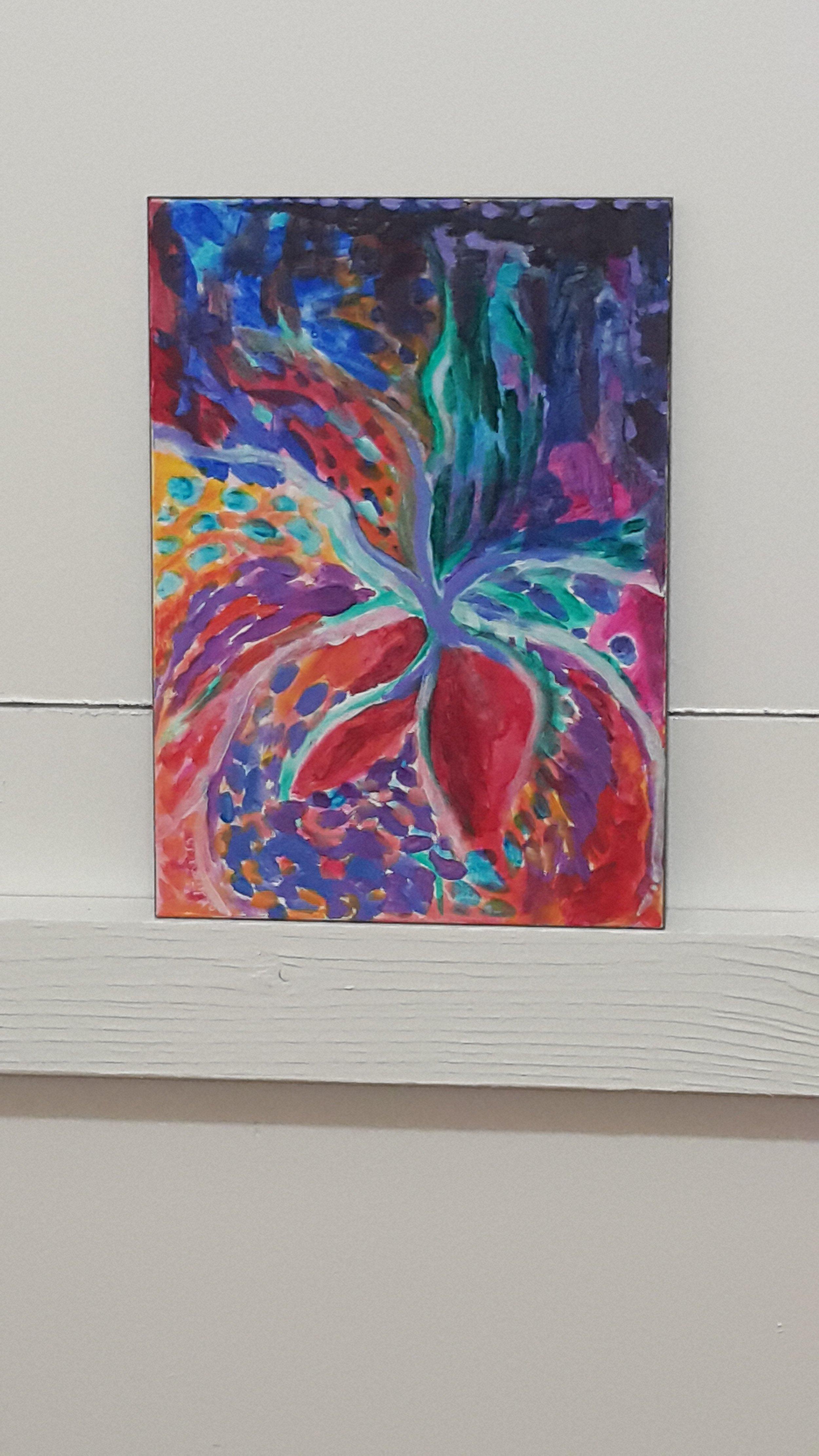 "Spring Thing. Acrylic on Aquabord. 5""x7"""